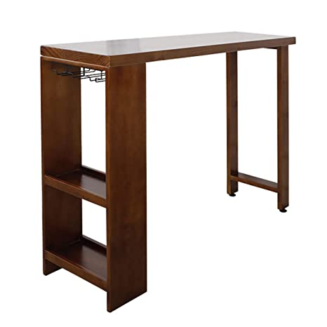 Amazon Com Bar Table Lxn Solid Wood Pub Table With Storage
