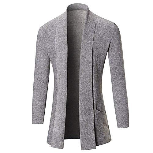 Couleur Outwear Slim Hiver Hommes Style Fit Clair Tendance Automne Casual Vintage Gris Coréen Nouvelle Cardigan Pull Male Pure wYd6wOAqx