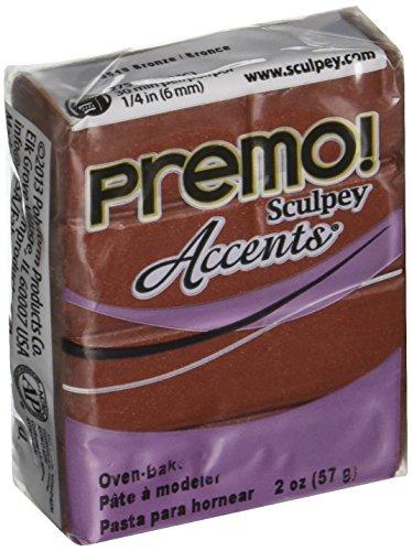 Polyform Premo! Sculpey Polymer Clay 2 Oz: Bronze