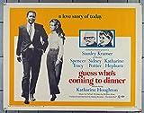 Guess Whos Coming To Dinner (1967) Original U.S. Half Sheet Movie Poster 22x28 KATHERINE HEPBURN SPENCER TRACY SIDNEY POITIER KATHERINE HOUGHTON ISABEL SANFORD Film Directed by STANLEY KRAMER
