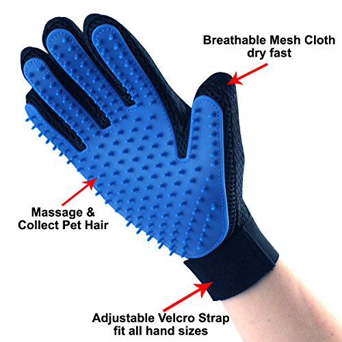 Pet-Grooming-Glove-Brush-Deshedding-Glove-Pet-Massage-Tool-for-Dogs-Cats-Horses-Rabbits-1-Pair-Left-Hand-and-Right-Hand-Blue