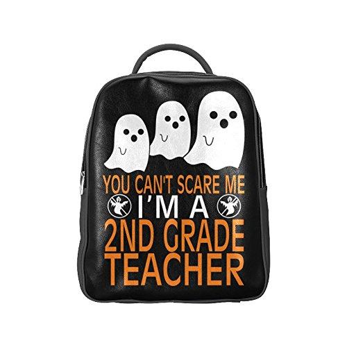 Navarro Halloween October 31 Jack O Lantern Unisex School High-grade PU Leather Backpack Bag Shoulder