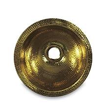 Nantucket Sinks ROB 12-Inch Hand Crafted Hammered   Round Vanity Sink, Solid Brass