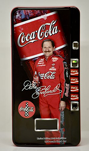Dale Race Earnhardt Sr (Dale Earnhardt Sr #3 Red Coca Cola 1998 Monte Carlo 1st Head to Head Race With Dale Jr Motegi Japan 1/64 Scale Diecast Car Inside Replica Mini Coca Cola Vending Tin Action Racing Collectables Limited Edition)