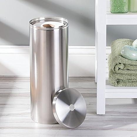 MDesign Toilettenpapierhalter Aluminium   Schicker, Freistehender  Klopapierhalter   Der Ideale Papierrollenhalter   Edelstahl Gebürstet:  Amazon.de: Küche U0026 ...