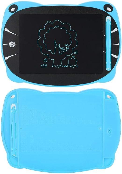 手書きタブレット、手塗りの無地のタブレット描画ボード書き込みボード電子ライティングデスク書き込みパッド(blue)