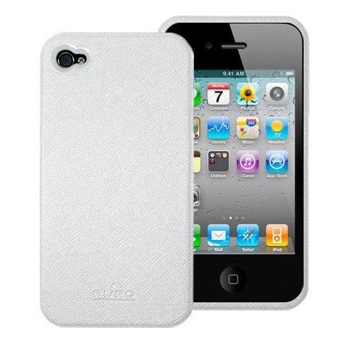 iPhone 4 Puro Leder Schutzhülle - Weiss