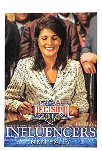 Nikki Haley trading card (Governor South Carolina Republican Clemson) 2016 Presidential Election #44