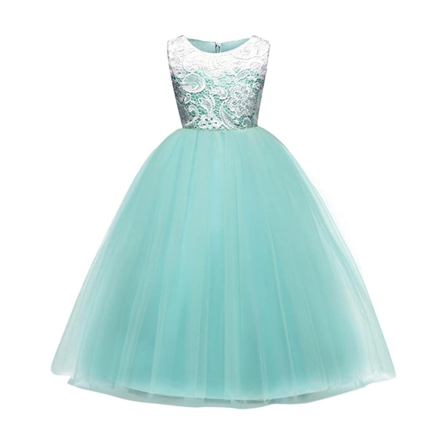 Woaills Hot Sale!!4-9 Years Old Baby Girl Princess Flower Bridesmaid ...