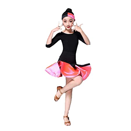 Faldas de danza para niña, Kids Girls Vestido de baile latino ...