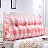 ZfgG Sofa Bed Large Triangular Bedside Cushion Wedge Cushion Bedroom Bed Backrest Pillow Reading Pillow Office Lumbar Pad with Removable Cover,8 Colors, 8 Sizes Optional Comfortable
