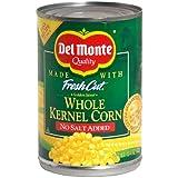 Del Monte Whole Kernel Corn - No Salt Added 15.25 oz. (Pack of 2)