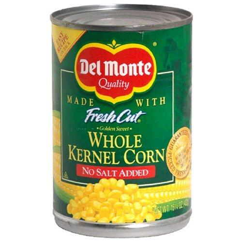 Del Monte Whole Kernel Corn - No Salt Added 15.25 oz. (Pack of -