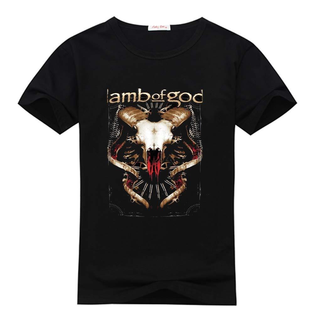 Lamb of God T Shirt Tech Steer Band Logo for Men's Black T-Shirt