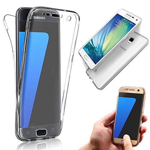 d39557e07de hot sale Vandot Samsung Galaxy S4   Funda Carcasa Protectora 360 Grados    TPU en Transparente   Full Body Protección Completa Doble Tapa Delantera +  Trasera ...