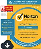 Norton Security Deluxe – 3 Devices – 1 Year Pre-Paid Subscription – with Auto-Renewal [PC/Mac/Mobile Download]