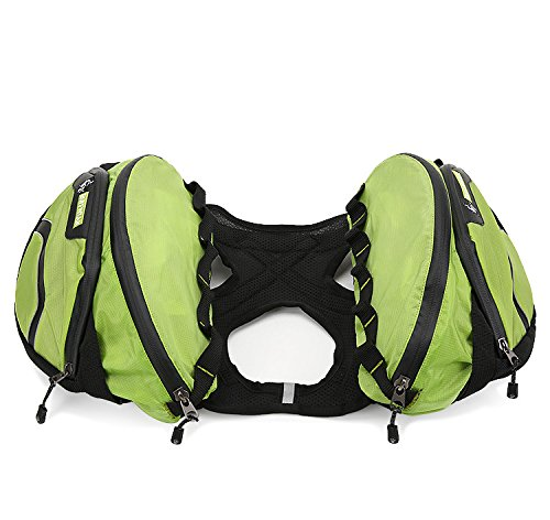 Wordbuy Dog Saddle Backpack 2 in 1 Saddblebag&Vest Harness with Waterproof for Backpacking, Hiking, Travel, Suit for All dogs