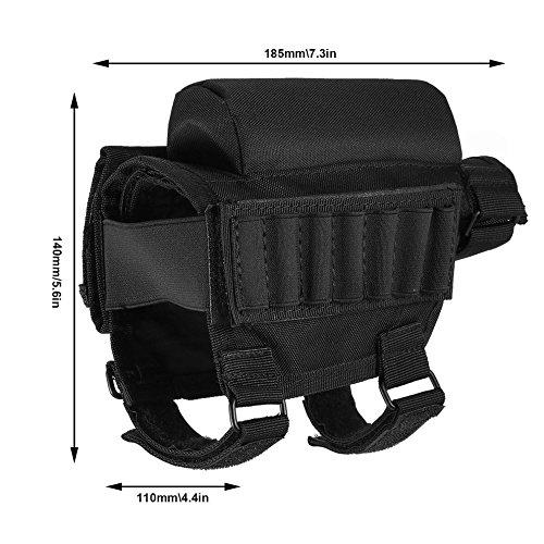 Adjustable Tactical Butt Stock Shotgun Cheek Rest Pouch Bullet Holder Bag by CLKJYF (Image #2)