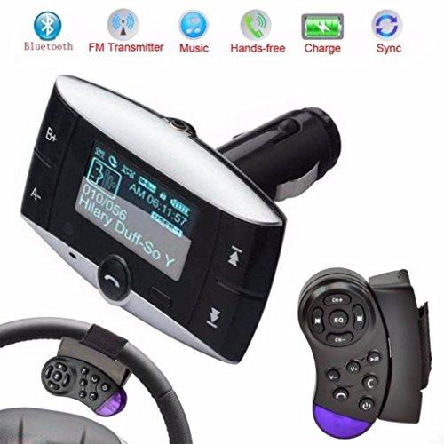 FM Transmitter, Libison Wireless In-Car FM Radio Adapter 1.5''LCD Car Kit MP3 Player FM Transmitter Modulator SD MMC USB Remote