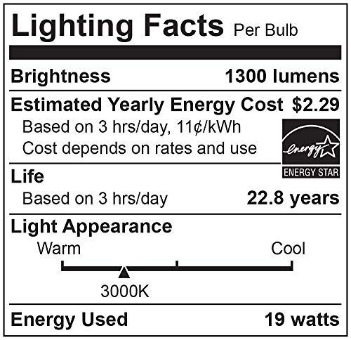 Cree Lighting TPAR38-1503025FH25-12DE26-1-E1 E26-1-E1 PAR38 Weatherproof Outdoor Flood Equivalent LED Bulb (Dimmable) 1200 lumens 3000K, Spot, Bright White 120W
