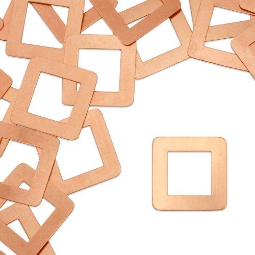 ImpressArt, Square Washer Stamping Blanks, Copper, 1 1/8