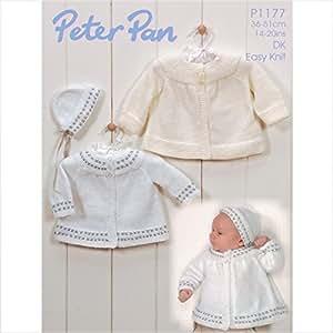 Peter Pan Baby/Children's DK Cardigans & Hat Knitting Pattern 1177 by Peter PAN