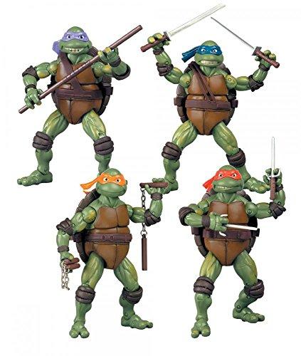 [Teenage Mutant Ninja Turtles Set of 4 Exclusive Classics Movie Action Figures [Donatello, Raphael, Michelangelo & Leonardo]] (Ninja Turtle 1990 Costume)