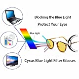 Cyxus Blue Light Filter UV Blocking Glasses, Anti-eyestrain, Great for Computer/Cell Phone Readers/PC Game Players, Classic Vintage Round Frame (Tortoise)