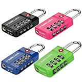 SURE LOCK TSA Compatible Travel Luggage Locks, Inspection Indicator, Easy Read Dials- 1