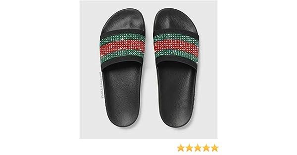 e32346cd2f8f88 Amazon.com   Custom Gucci Pursuit 72 Rubber Slide Sandal
