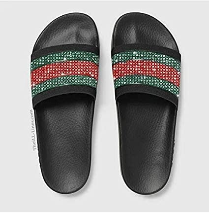 e32346cd2f8f88 Amazon.com   Custom Gucci Pursuit 72 Rubber Slide Sandal