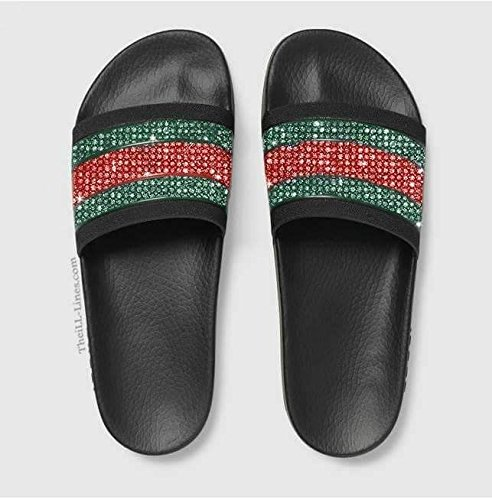 fac06d9b690 Amazon.com   Custom Gucci Pursuit 72 Rubber Slide Sandal
