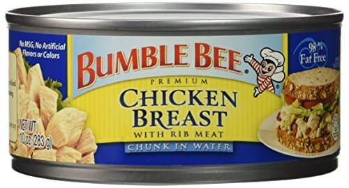 Bumble Bee Premium Chicken Breast in Water, High Protein, Keto, 10 Ounce (10 ()