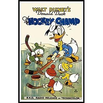Hockey Champ Fridge Magnet 2.5 x 3.5 Donald Duck Magnetic Movie Poster Canvas Print