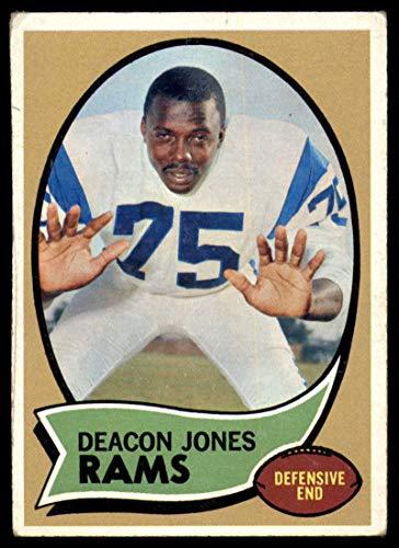 Football NFL 1970 Topps #125 Deacon Jones VG Very Good LA Rams ()