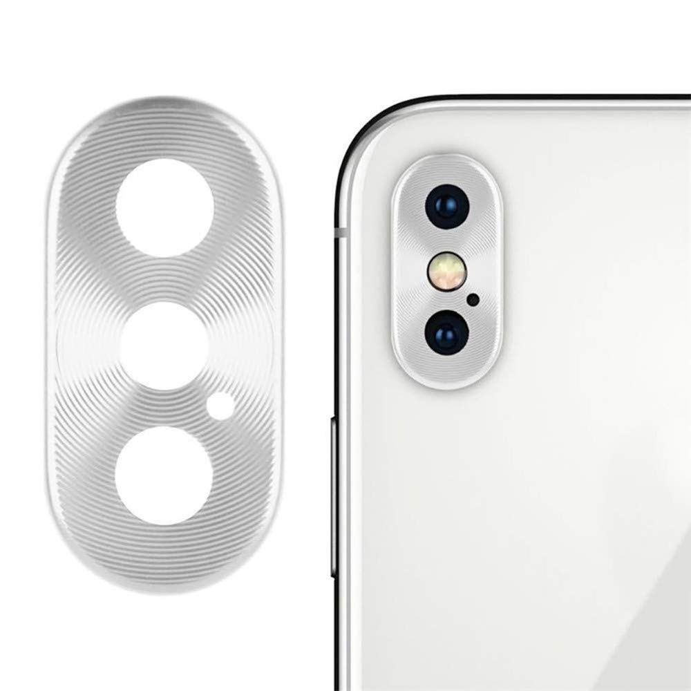 Sikye Metal Aluminum Rear Camera Lens Case Cover Protector Ring + Film for iPhone Xs/XS Max (iPhone Xs/XS Max, Silver)