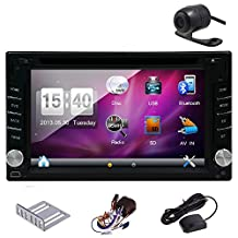 Hot Sale!!! Double DIN Windows system 6.2 inch GPS voice Navigation Free 8GB MAP Card HD Touch Screen SD/USB Support FM Transmitter Subwoofer Output Support Steering Wheel Control 3D Interface Built-In Bluetooth Car logo Several OSD Languages Remote Control Rear view camera included!