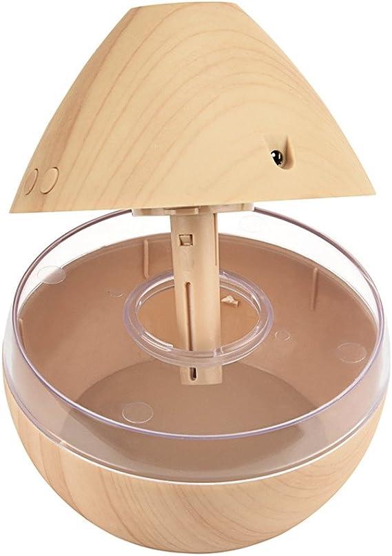 Madera Oscura Sothat Humidificador de Aroma USB Difusor de aceites Esenciales Humidificador ultrasonico de Niebla Fria Purificador de Aire 7 Color Change LED Luz de Noche