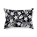 Pillow Covers Of Flower For Bar Seat Office Play Room Teens Boys Floor Gf 20 X 30 Inches / 50 By 75 Cm(each Side)