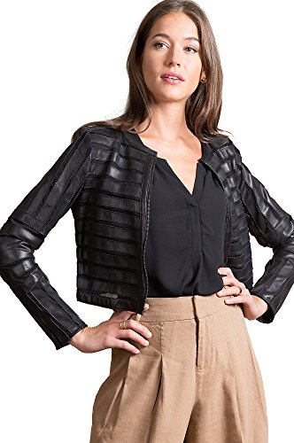 Coco Lambskin Leather Jacket (Leather Cropped Jacket)