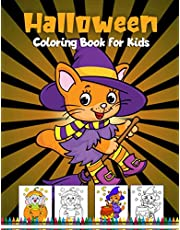 Halloween Coloring Book for Kids: Spooky and Fun Halloween Coloring Pages for Kids Ages 4-8 | Witch