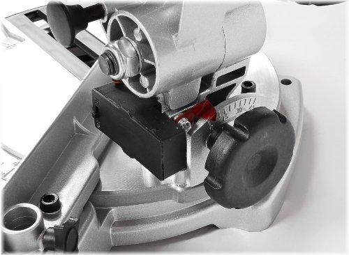 HECHT Kapps/äge 814 Gehrungss/äge 1400W, schwenkbarer S/ägekopf und LASER 210 mm S/ägeblatt