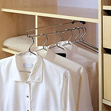 Wardrobe Pull Out Clothes Hanger Rail / Extending Rail / Storage Organiser  [350mm]
