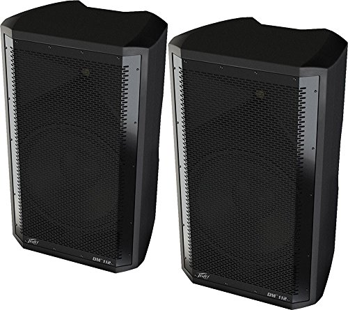 Peavey Dark Matter DM112 Pro DJ 2-Way Active 12 Inch Powered PA Speaker (2 Pack) (Amplified Pa Speaker Bi Way)