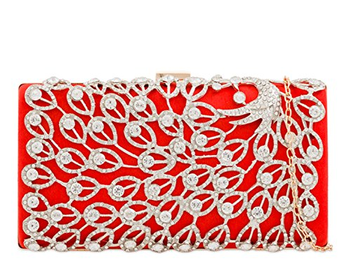 Scarlet Bag Evening Wedding Women's Handbag Clutch Prom LeahWard 10SAwW