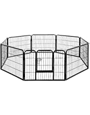 i.Pet Pet Dog Playpen Dog Cage Portable Exercise Cage Fence Dog Puppy Rabbit 60-100CM Height