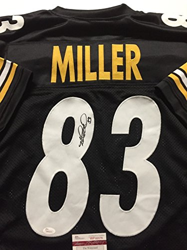 Autographed/Signed Heath Miller Pittsburgh Black Football Jersey JSA (Heath Miller Autographed Steelers Jersey)