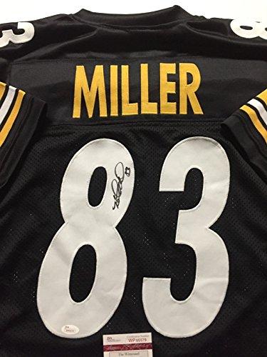 Autographed/Signed Heath Miller Pittsburgh Black Football Jersey JSA COA ()