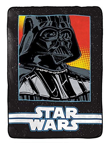 "Star Wars Classic Grid 2 Coral Fleece 62"" x 90"" Twin Blanket"