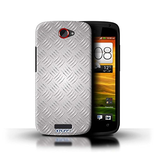 Coque de Stuff4 / Coque pour HTC One S / Argent Design / Motif en Métal en Relief Collection